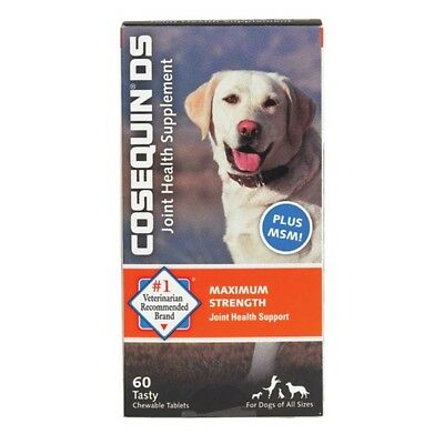 COSEQUIN DS Plus MSM For Dogs 60 Chewable Tablets by Nutramax FRESH