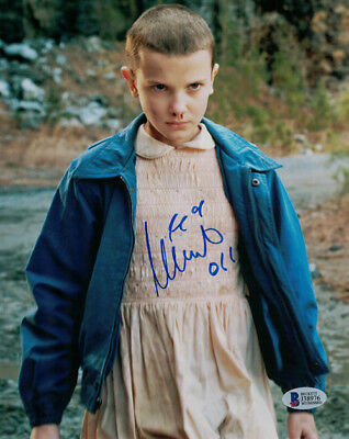 MILLIE BOBBY BROWN AUTOGRAPHEDSIGNED STRANGER THINGS 8X10 PHOTO 21014 BAS