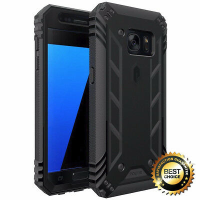 Built-in-Screen Protector Shockproof Cover For Galaxy S7 Phone Case Black