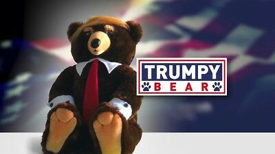 Trumpy Bear 22 - Make Christmas Great Again New With Cape - Certificate