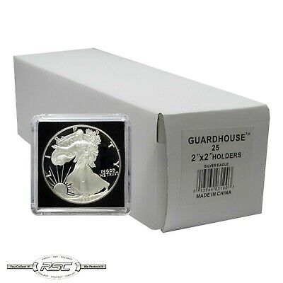 25 - Guardhouse 2x2 Tetra Snaplocks Coin Holders for 1-Oz American Silver Eagle