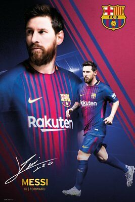 LIONEL MESSI - 2018 BARCELONA POSTER - 24x36 FOOTBALL SOCCER FC 34311