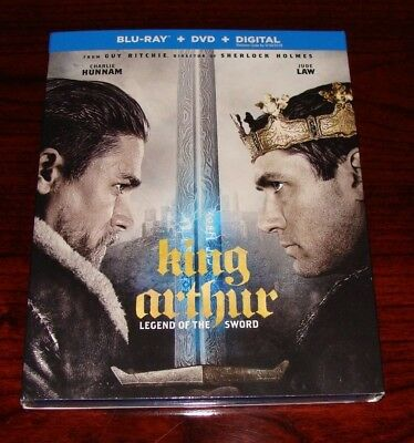 King Arthur Legend of the Sword on Blu-ray - DVD - BRAND NEW - FACTORY SEALED