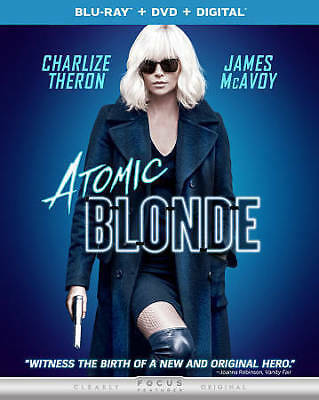 Atomic Blonde Blu-ray -DVD -Digital 2017 NEW with Slipcover