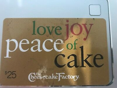 25 THE CHEESECAKE FACTORY GIFT CARD   US-Nationwide No Expiration