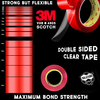 3M VHB 4905 Double Sided Mounting Tape Transparent Clear Long 10M  33FT Length
