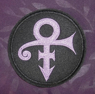 PRINCE PATCH SYMBOL ARTIST FORMERLY KNOWN AS PRINCE EMBROIDERED SEW IRON ON
