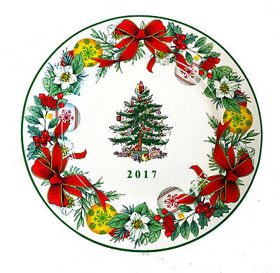 Spode 7 34 2017 ANNUAL COLLECTOR CHRISTMAS TREE PLATE