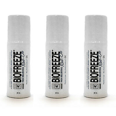 Biofreeze Pain Relieving Roll On 3-Ounce Pack of 3