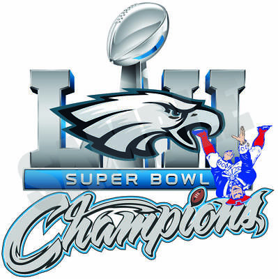 Philadelphia Eagles 2018 Super Bowl 52 Champions Decal  Sticker
