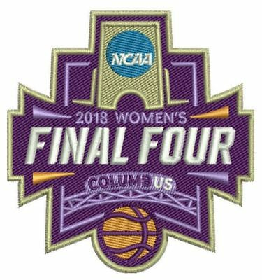 2018 WOMENS FINAL FOUR PATCH NCAA JERSEY STYLE MARCH MADNESS PROGRAM CONCEPT