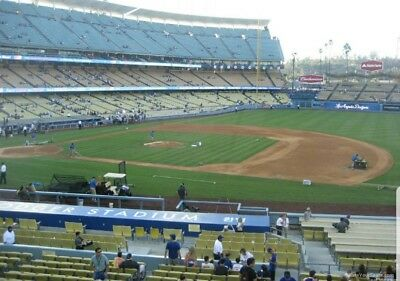 Dodgers vs Giants 33018-  2 TIX LOGE 138 ROW C  KIRK GIBSON BOBBLEHEAD