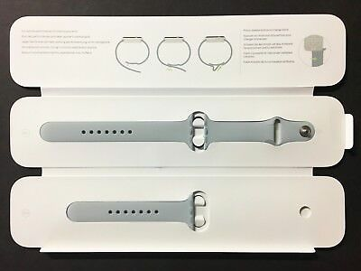 Genuine Apple Watch Sport Band 38mm Mist Blue Stainless Steel Pin - VG
