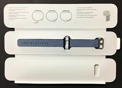 Genuine Apple Watch Woven Nylon Band 42mm Midnight Blue - New Other