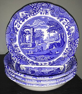SPODE BLUE ITALIAN CEREAL BOWL SET of 4 NWT 100 MADE IN ENGLAND