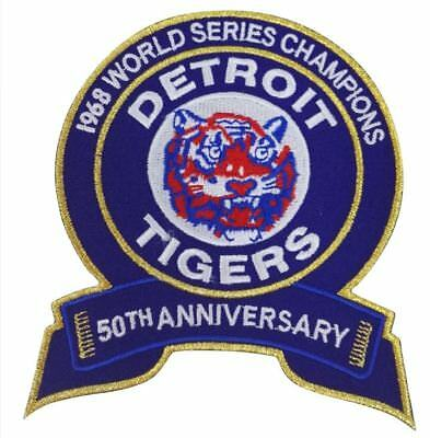 DETROIT TIGERS PATCH 50TH ANNIVERSARY TEAM STYLE JERSEY WORLD SERIES AL KALINE