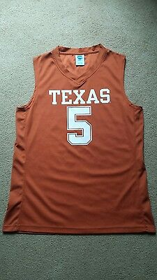 Texas Longhorns Basketball Jersey Large Orange NCAA March Madness