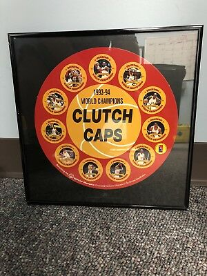 CLUTCH CAPS HOUSTON ROCKETS - Beautiful Framed Memorabilia