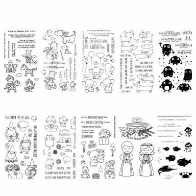 DIY Clear Stamp Silicone Seal Sheet Gnome Scrapbooking Craft Card Album