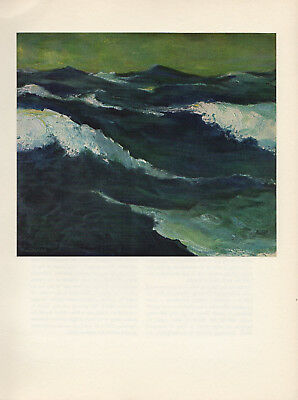 1959 Vintage EMIL NOLDE THE SEA FABULOUS OCEAN COLOR Offset Lithograph