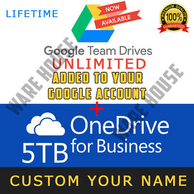 Google Drive Unlimited added to your Account - OneDrive 5TB Lifetime - PROMOTION