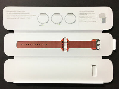Genuine Apple Woven Nylon Band for Apple Watch 42mm Space OrangeAnthracite VG