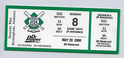 2000 SEC CHAMPIONSHIP TOURNAMENT FULL UNUSED TICKET SESSION 8 NOT PLAYED