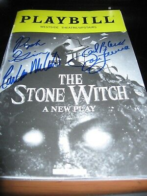 The Stone Witch Cast Autographed playbill Last one