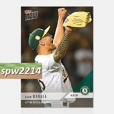 2018 Topps Now Sean Manaea 111 - 12th No Hitter in As History
