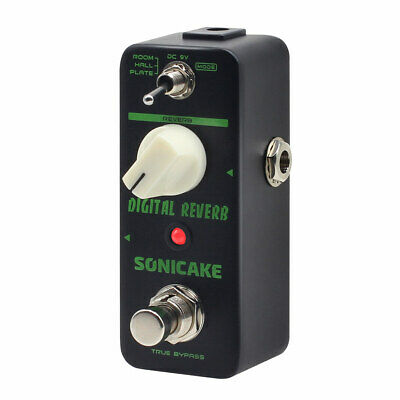 SONICAKE Digital Reverb Room Hall Plate Guitar Effects Pedal QSS-06