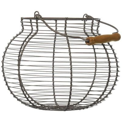 Your Hearts Delight Round Wooden Handle Wire Basket 10