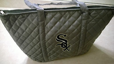 Chicago White Sox Mothers Day Grey Quilted Lined Tote Bag SGA From 5915