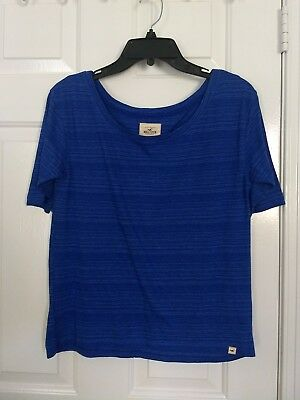 GUC Hollister Co- Shirt- Size small- Blue with stripes- Female-