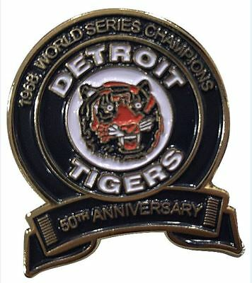 2018 DETROIT TIGERS 50TH ANNIVERSARY PIN 1968 MLB WORLD SERIES CHAMPIONS KALINE