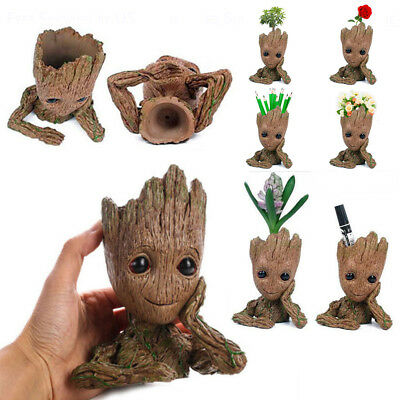 Guardians Of The Galaxy Vol- 2 Baby Groot Flowerpot Pen Pot Figure Gift Toy US