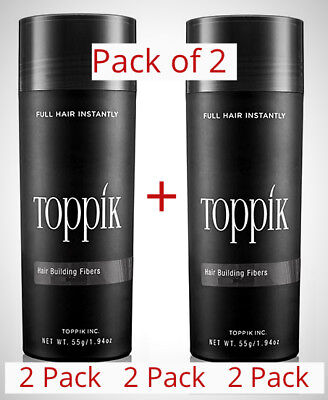 Toppik Black Dark Brown Medium Brown Light Brown Auburn Gray 1 or 2 Pack 27-5g