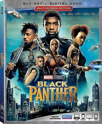 Black Panther wSlipcover Blu-ray Digital HD NEW