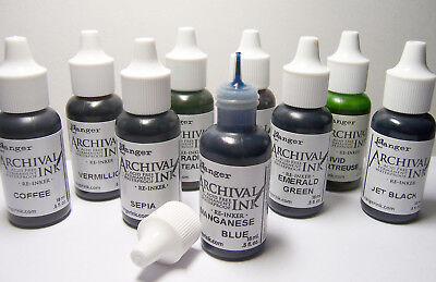 RANGER Archival Reinker -5oz Refill Ink for Stamp Pads Select from 55 colors