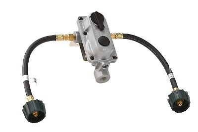 2-Stage Auto Changeover Propane Gas RV Regulator Kit with 2 12 Pigtails
