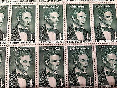 1959 - BEARDLESS LINCOLN - 1113 Full Mint -MNH- Sheet of 50 Postage Stamps