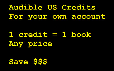 2 Audible US credits for your own account