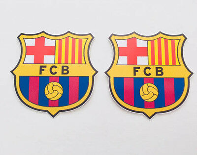 2x FC Barcelona Car Bumper Laptop iPhone Wall Vinyl Die Cut Sticker Decal