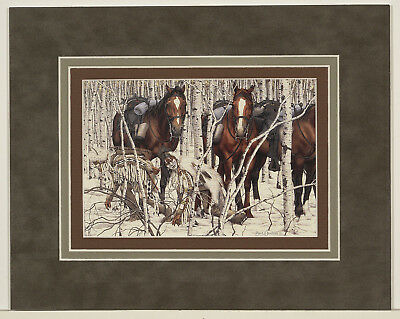 Two Indian Horses by Bev Doolittle 8x10 triple matted art print