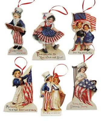 Bethany Lowe Patriotic Fourth of July Americana Die Cut Ornaments Decorations
