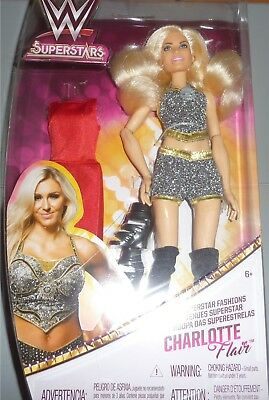 CHARLOTTE FLAIR WWE Mattel Superstar Fashions 12 Inch Doll Wrestling Girl DMG PK