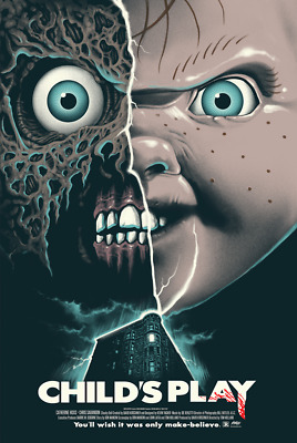 Childs Play Screen Print Gary Pullin Mondo Texas Frightmare 2018 L-E- 275
