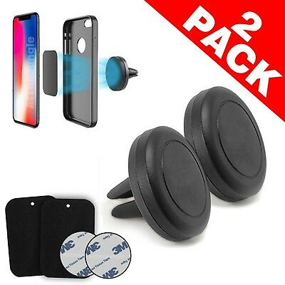 Magnetic Car Mount Air Vent Stand GPS Cell Phone Holder iPhone 8 7 Plus X 2 Pack