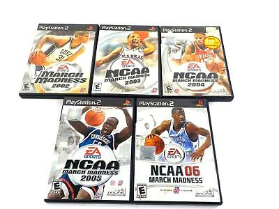 Sony PlayStaion 2 PS2 NCAA March Madness Game Lot 2002 2003 2004 2005 2006