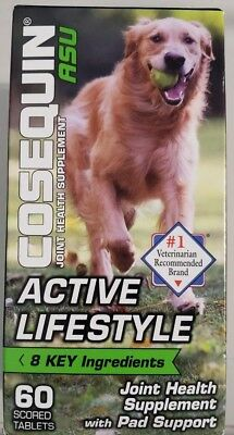 Cosequin ASU Active Lifestyle Joint - Pad Health For Dogs 60 Tab - Ships Free