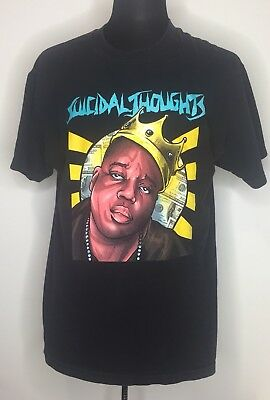 Biggie Smalls Notorious Big Suicidal Thought JSLV T-shirt Size L Black